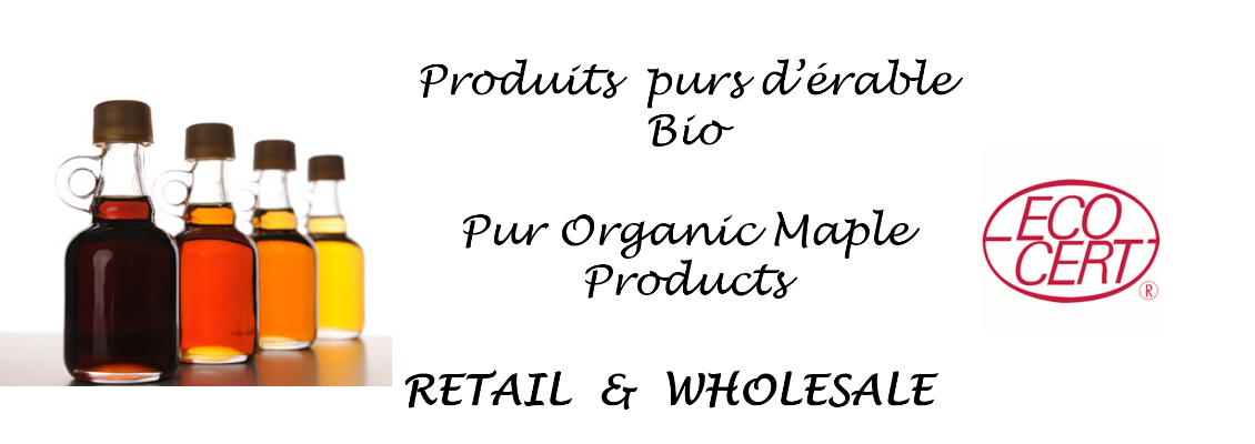 Pur organic maple products Ecocert